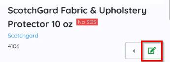 Inventory Item Edit Button