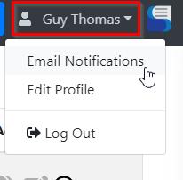 Email Notifications Menu Item