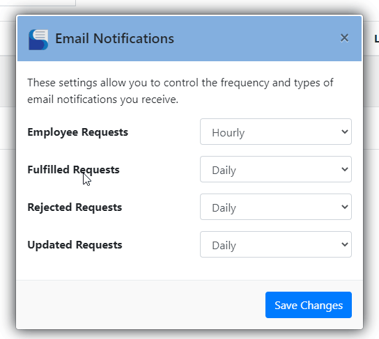 Email Notification Settings