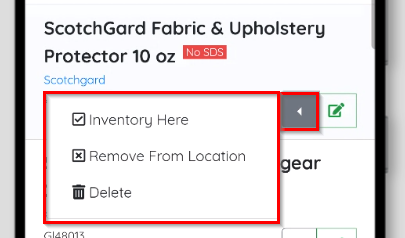 Inventory Options