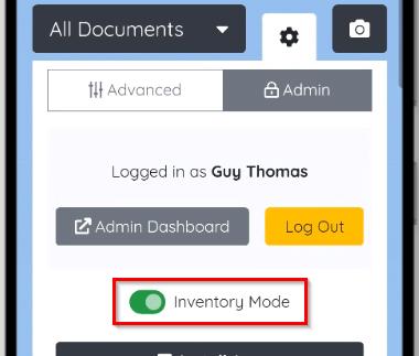 Inventory Mode Slider